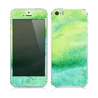 The Vibrant Green Watercolor Panel copy Skin for the Apple iPhone 5s