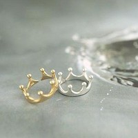 Dainty Crown Rings from p.s. I Love You More Boutique