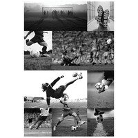 Soccer Collage Wall Mural