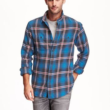 Old Navy Plaid Heavy Flannel Shirt