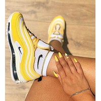 Nike Air Max 97 air cushion yellow Gym shoes-10
