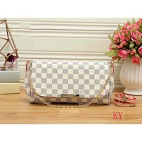 LV classic ladies fashion printing bag F-LLBPFSH White grid