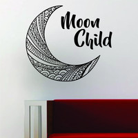 Moon Child Quote Space Stars Boho Decal Sticker Vinyl Wall Room Decor Decoration Art