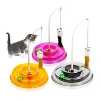 Toys For Cats Colo Colo Round Turntable Stick Interactive Cat Training Toy Games Plate Turntable
