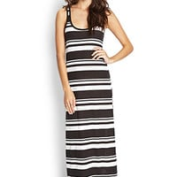 FOREVER 21 Multi-Striped Maxi Dress