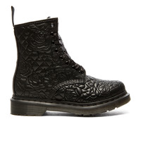Dr. Martens Brause Rose Quilted 8-Eye Boot in Black