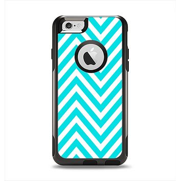 The Trendy Blue Sharp Chevron Pattern Apple iPhone 6 Otterbox Commuter Case Skin Set