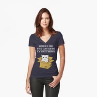When I Die The Cat Gets Everything T Shirt by bitsnbobs