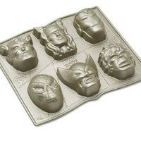 Nordic Ware Marvel Comics Cakelet Pan: Wolverine, Iron Man, Captain America, The Incredible Hulk, Thor and Spinder-Man