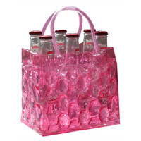 Chill It Beer Bottle Bag 6 - Cotton Candy