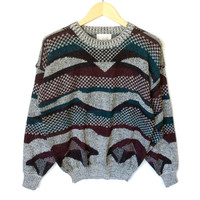 Checkered Mountains Vintage 90s Ugly Huxtable / Cosby Sweater