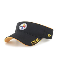 NFL Pittsburgh Steelers '47 Top Rope Adjustable Visor, One Size Fits Most, Black