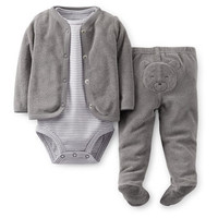 3-Piece Layette Cardigan Set