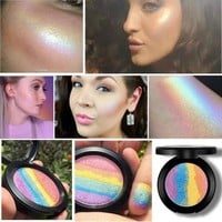 Hot Magic Rainbow Highlighter Makeup 6 Colors Irregular Palette Bitter Lace Beauty Blush Highlighter Powder Jup