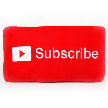Subscribe Button Pillow - CONVENTION