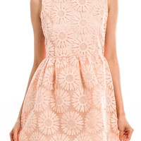 Lunch at the Ritz Dress - Soft Blush