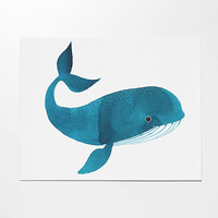 Happy Whale art print by oanabefort on Etsy