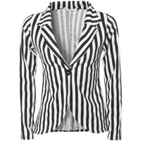 black and white striped jacket - Google Search