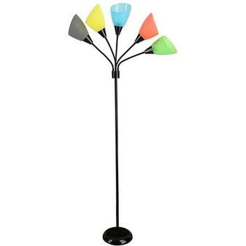 Unique 5 Light Dorm Room Floor Lamp Lighting Light Fixture