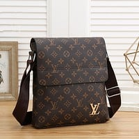 LV Louis Vuitton Men's Fashion Leather Tote Bag Handbag Shoulder Bag Handbag