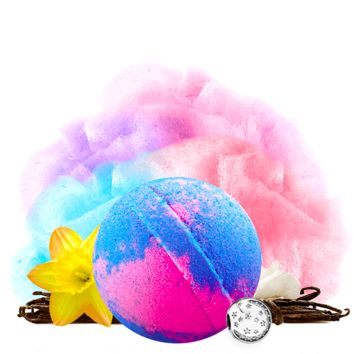 Carnival Cotton Candy Charm Bath Bomb