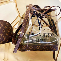 Louis Vuitton Lv Louis Vuitton Two-piece Lv Transparent Jelly Bucket Bag Letters Print Bucket Bag