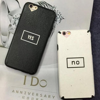 """""""Yes"""" and """"No """"phone case for iPhone7 7S 7 7Splus iphone 6 6s 6 plus 6s plus + Nice gift box 080902"""
