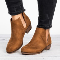 Slit Ankle Flat Booties