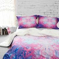 Jacqueline Maldonado For DENY Water 1 Duvet Cover- Purple