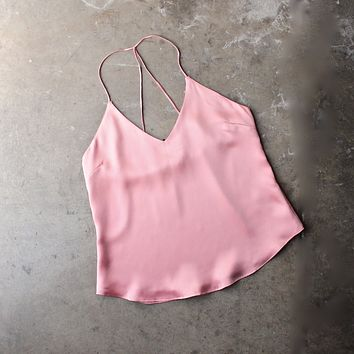 Muse Satin Camisole in Rose