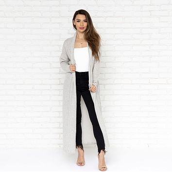 Skies Are Grey Duster Knit Cardigan