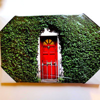 "Canvas Print Home Decor. Ireland Red Door Photography..  12x18x1"" Ready to Ship/Hang"