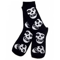 Philcos Men's The Misfits Skull Pattern Socks Black