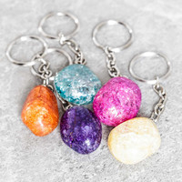 Crackle Quartz Keychain