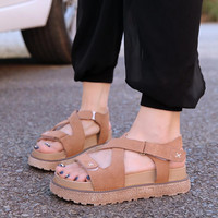 Woman  Gladiator Sandals Bandage Platform Sandals