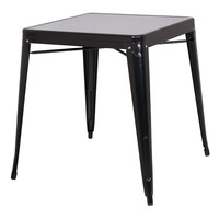Modern Classic French Cafe Style Stackable Metal Dining Table in Black