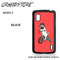 Pug Bicycle For Google Nexus 4 Case UY