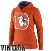 Nike Denver Broncos Women's Retro Tailgater Hoodie - Orange