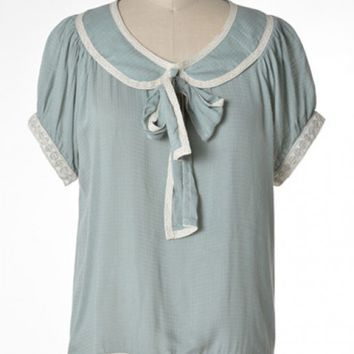 Blouse - Good Girl Charm Peter Pan Collar Tie-neck Blouse