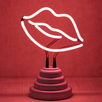 Lips Neon Sign Table Lamp   Urban Outfitters