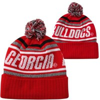 Top of the World Georgia Bulldogs Striker Knit Hat - Red