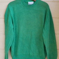Vintage Pull Over Green Sweater Slouchy Sweater by Lord Jeff