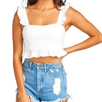 Delia Ruffle Crop Top