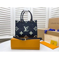 LV Louis Vuitton 2021 NEW ARRIVALS MONOGRAM LEATHER BY THE POOL ONTHEGO PM TOTE BAG SHOULDER BAG