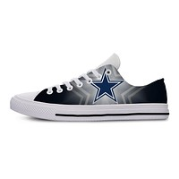 Cowboys Lightweight Fashion Men/Women Casual Shoes Breathable Flat Canvs Sneakers Dallas Football Fans Shoes