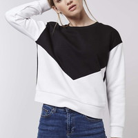 PETITE Colour Block Sweatshirt - Topshop