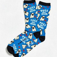 Pugs Not Drugs Sock | Urban Outfitters