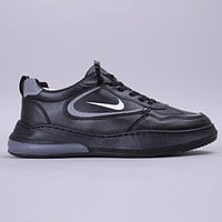 NIKE New fashion hook print sports leisure shoes men Black
