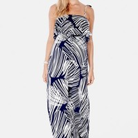 Women's Imanimo Ruffle Bandeau Maxi Maternity Dress