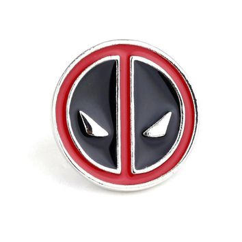Creative Cute Exquisite Deadpool Brooches For Men Charm Brooch Pin Round Metal Badges Cosplay Shirt Button Pin Jewelry Souvenir